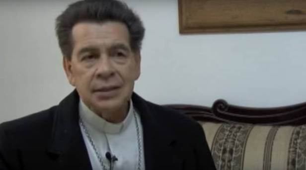 Mons. Rafael Sandoval Sandoval. Foto: Captura de YouTube / CaritasTV.